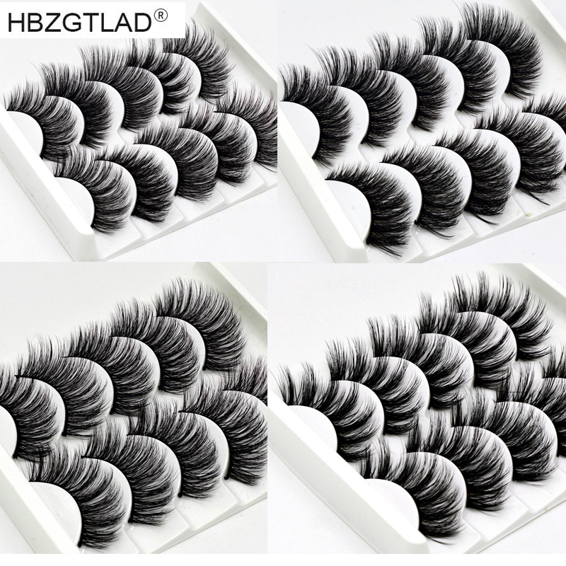 NEW 13 Styles 1/5/6 pair Mink Hair False Eyelashes Natural/Thick Long Eye Lashes Wispy Makeup Beauty Extension Tools Wimpers(China)
