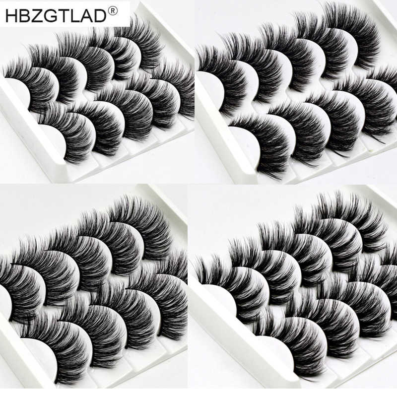 NEW 13 Styles 1/5 pair Mink Hair False Eyelashes Natural/Thick Long Eye Lashes Wispy Makeup Beauty Extension Tools Wimpers