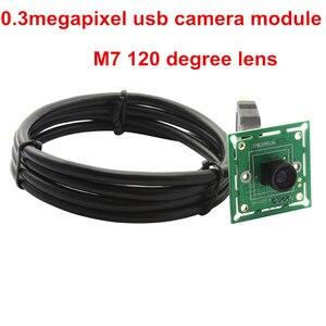 Image 3 - Elp 300K Điểm Ảnh VGA USB2.0 OmniVision OV7725 Màu Cảm Biến CMOS 60fps USB Module Camera Có Góc Quay Rộng 120 Độ m7 Ống Kính