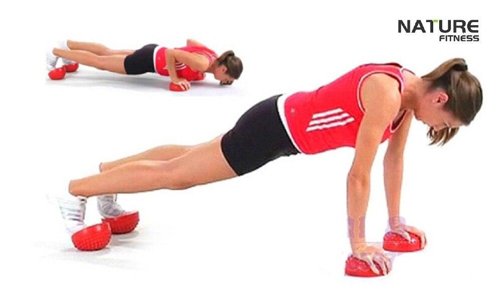 b9dffc1d6c Yoga meia esfera da ginástica da aptidão física aparelho massagem ponto de equilíbrio  bola exercício stepping stones vagens equilíbrio bosu ginásio pilates ...