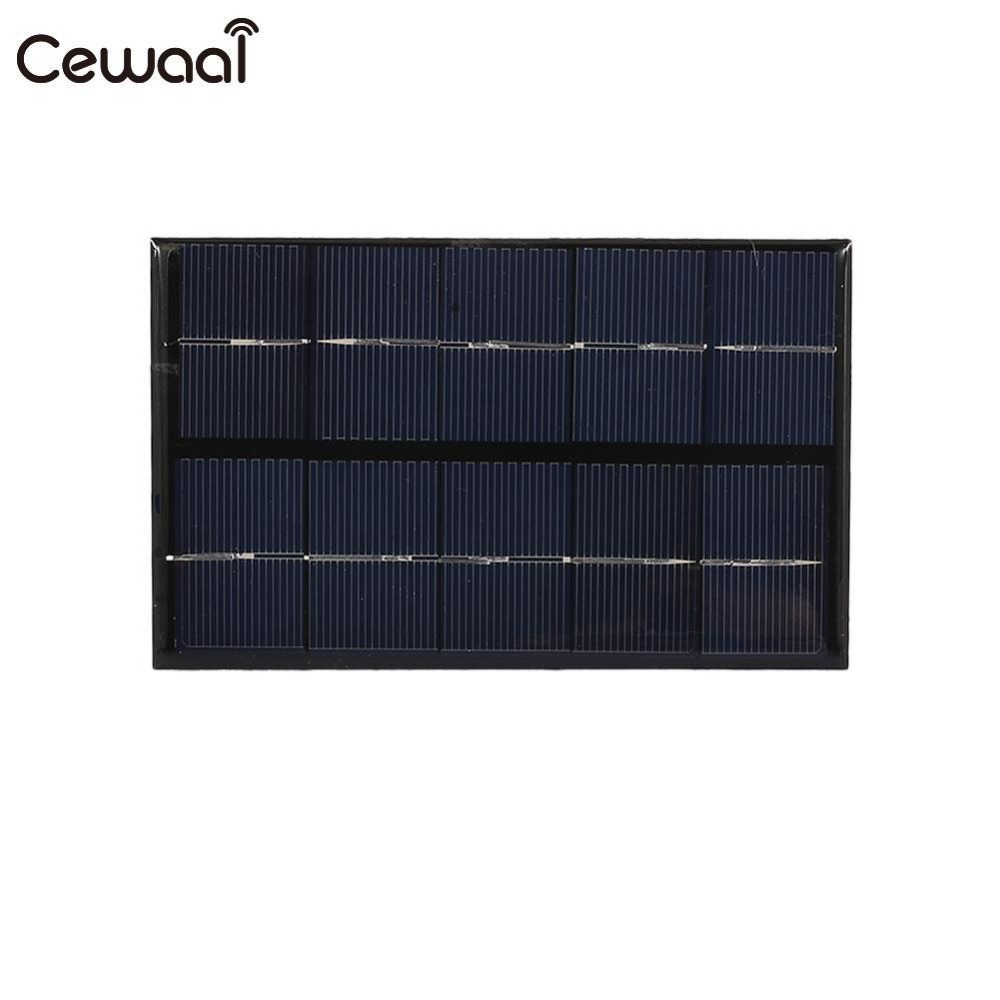 Cewaal Fast Charger USB Solar Panel 5W 5V Solar Generator Portable Climbing Solar Charger Pane USB Port Outdoor Portable
