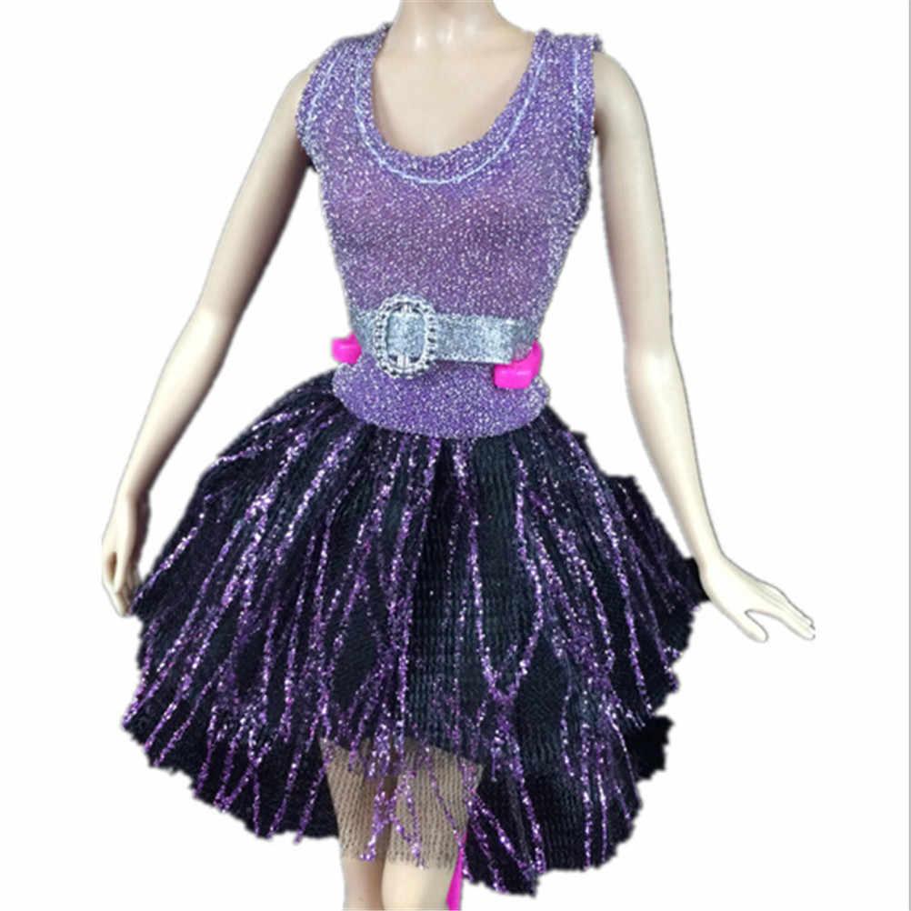 1 set de ropa para muñeca nuevo hecho a mano fiesta vestido de muñeca ropa vestido de 1 par zapatos de cristal o el mejor regalo del bebé