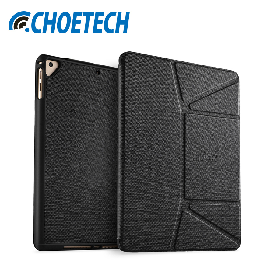 CHOETECH Protective Case Cover For iPad 9.7 2018/2017 Tablet Stable Stand With Soft Flexible TPU Back Cover For iPad Air/Air 2 protective tpu back case cover for xiaomi mi4 translucent white
