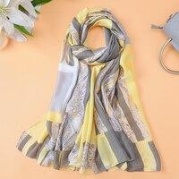 2018 New Plaid Scarves Women's Chian Print Silk Scarf For Lady Beach Cover Shawls Wrap bandanas Big Long Scarf