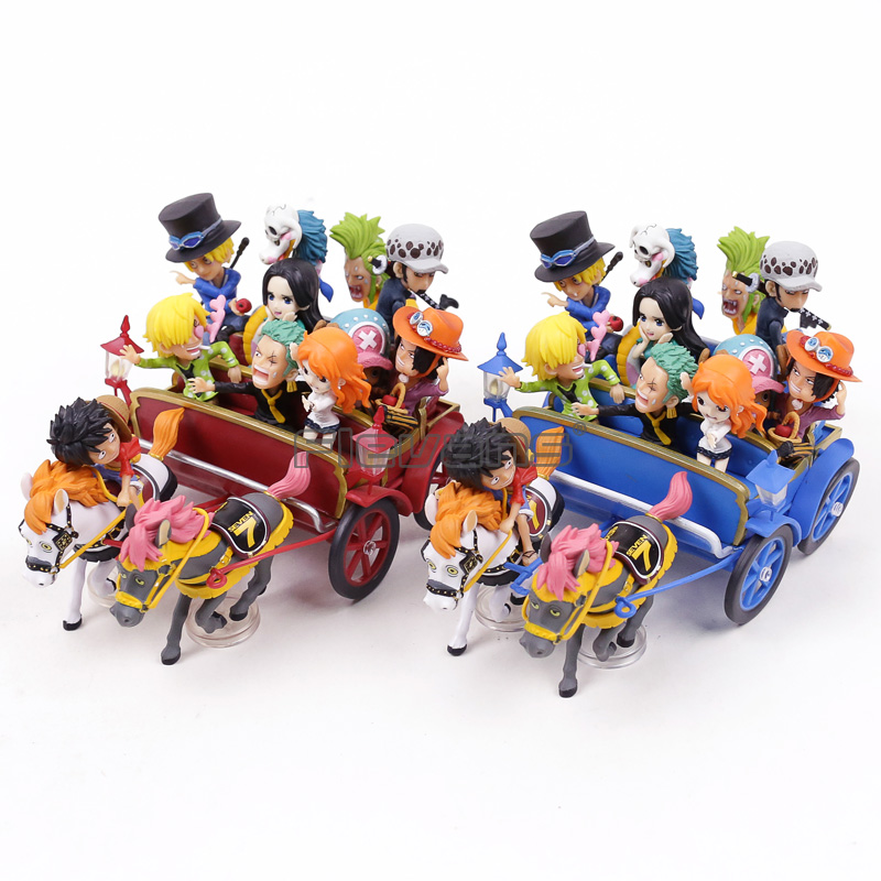 Anime One Piece 20th Anniversary Carriage Ichiban Kuji WCF PVC Figures Model Dolls Toys Gift цены онлайн
