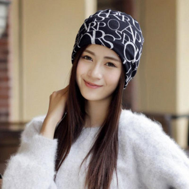 Letter Print Cotton Women   Beanie   Hat Warm Soft Knitted Hats For Women Winter Caps   Beanies   Stylish Hats For Ladies Fashion