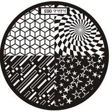 Nuevo patrón de imagen de arte de uñas Sello de estampado Placas Plantilla de manicura 003 P30 F35 HW