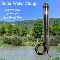 300W 24V DC Submersible Stainless Steel Solar Water Pump