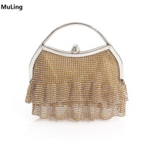 New!Dress Shape Clutch Bag Evening Bag Crystal Bling Handbag Clutch Gems Purse Wedding Bag for Women With Detachable Chains Gold 2018vintage evening clutch with luxury diamonds evening handbag with detachable chain unique design for a variety of occasions