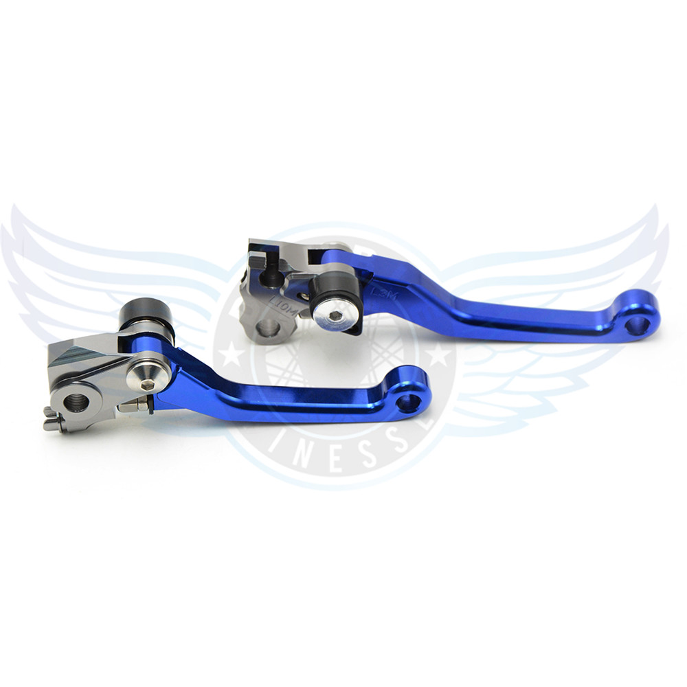 ФОТО new brand motorcycle accessories folding Pivot Brake Clutch Levers cnc blue For Suzuki RMZ 250 2005-2006