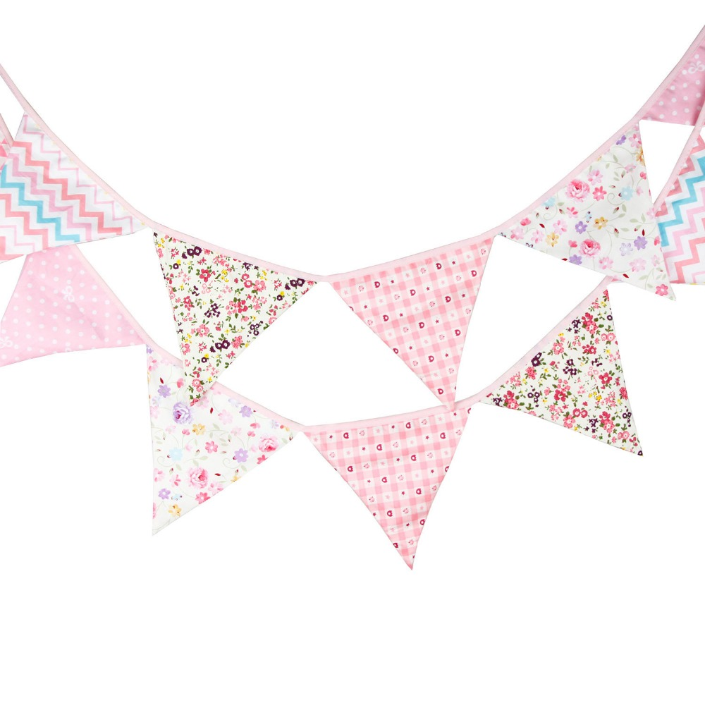 Perfect to Decorate on Occasion. Color Stripe 12 Flag Garden Bunting
