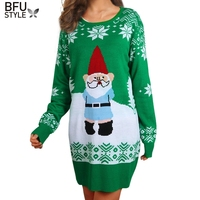 Christmas Sweater Jesus Casual Long SleeveTree Reindeer Patterned Sweaters New Long Pullovers Print Sweater