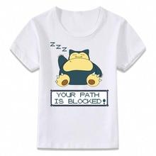 174f32b1 Kids Clothes T Shirt Pokemon Snorlax Children T-shirt for Boys and Girls  Toddler Shirts