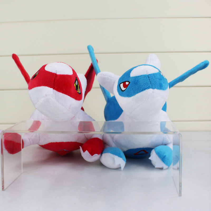 "2pcs/lot New Latias Latios Stuffed Plush Toy Doll with Tag 12""30cm Free Shipping"