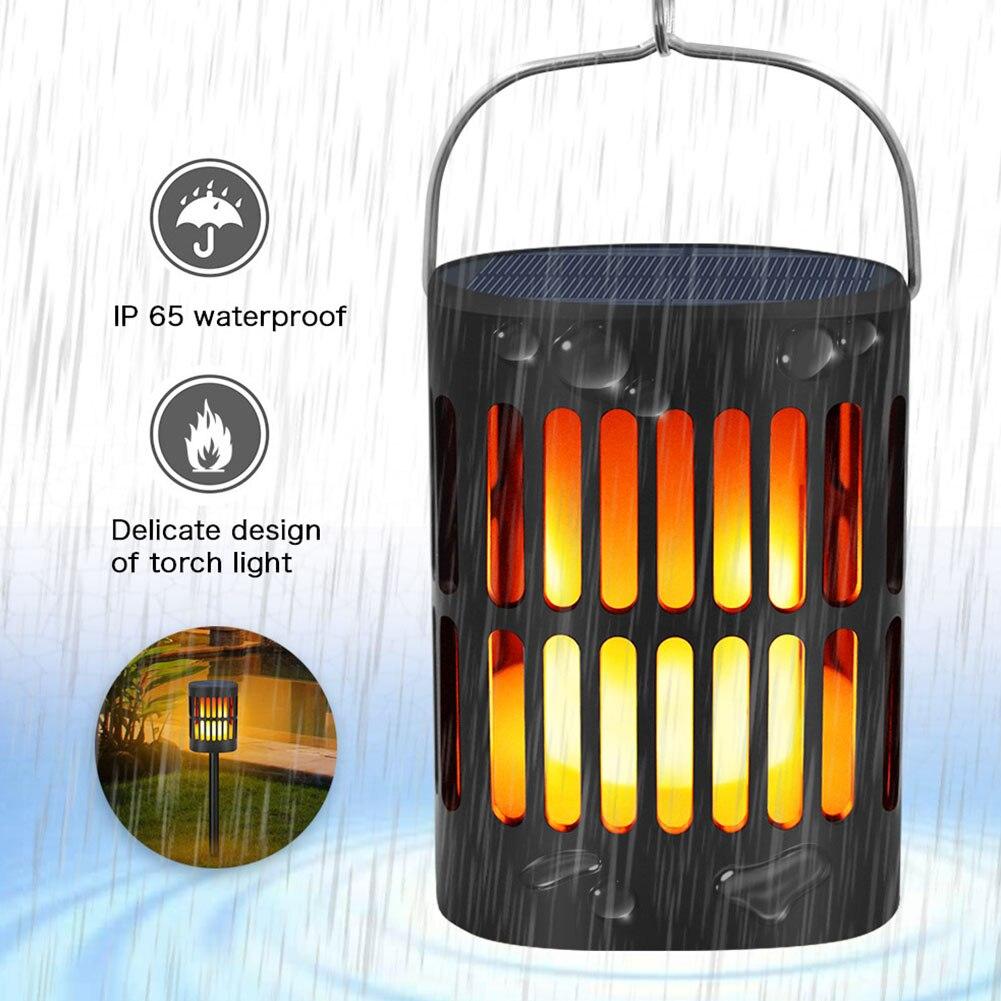 Décor à la maison lampe solaire torche scintillante effet de flamme ampoule réaliste ornement de jardin facile à installer étanche Durable Led extérieur