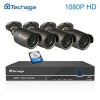 Techage 8CH 4CH 1080P POE NVR CCTV System 2 0MP 3000TVL Indoor Outdoor IP Camera P2P