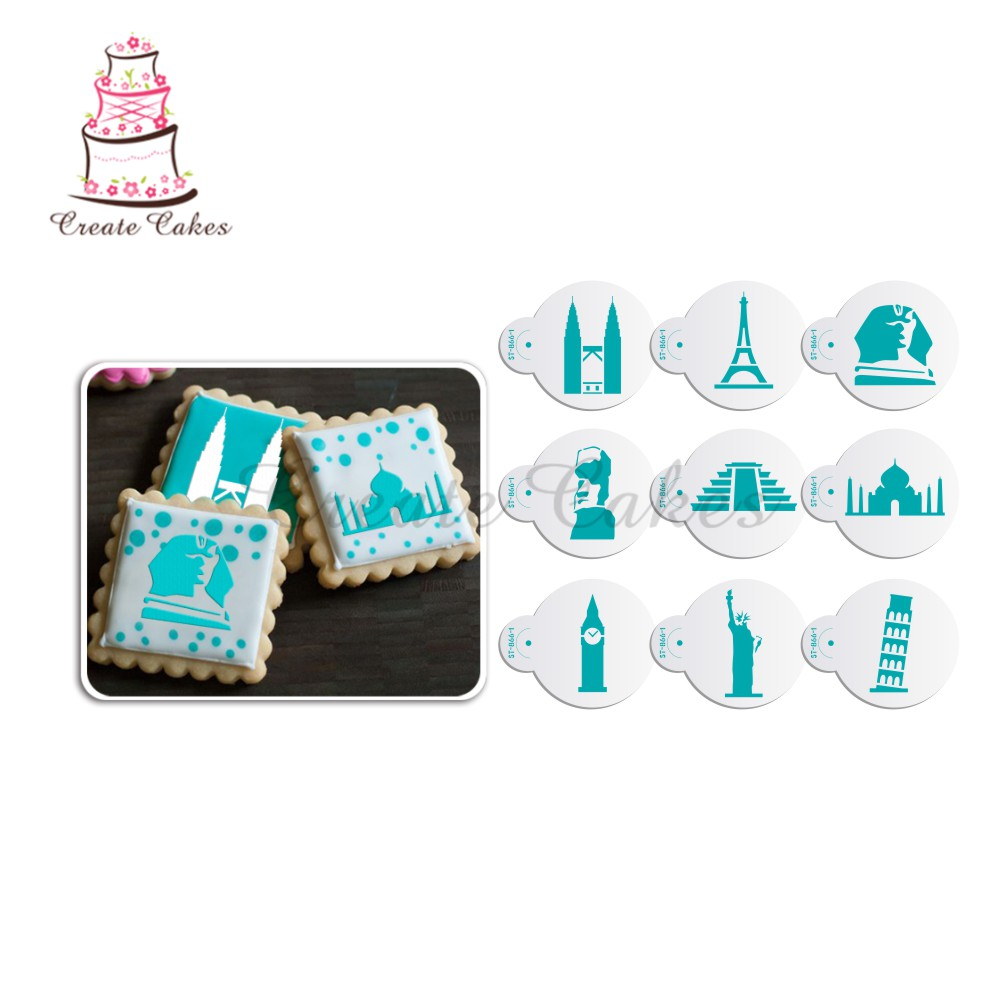 Eiffel Tower Cookie& Cupcake Stencil Decorative Stencils ...
