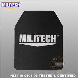MILITECH 10x12 pulgadas Ultra ligero peso UHMWPE NIJ nivel IIIA 3A Panel balístico a prueba de balas mochila PE placa con video de prueba