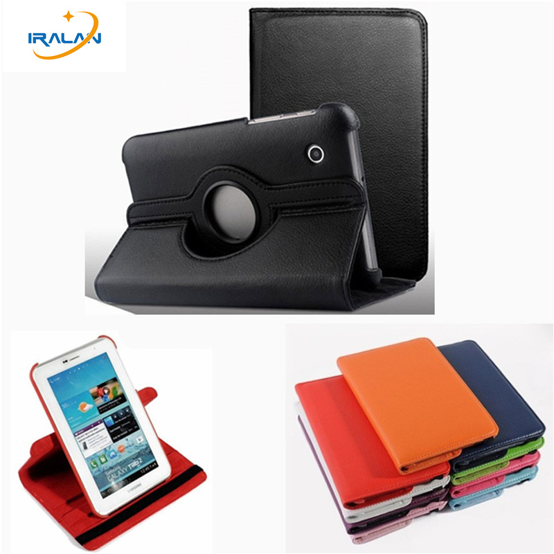 Best selling 7 inch 360 Degree Rotating PU Leather Case For Samsung Galaxy Tab 2 7.0 P3113 P3100 P3110 Leather Tablet cover free tactical fast helmet pj type sports protective helmet black de fg cycling helmet abs material m l
