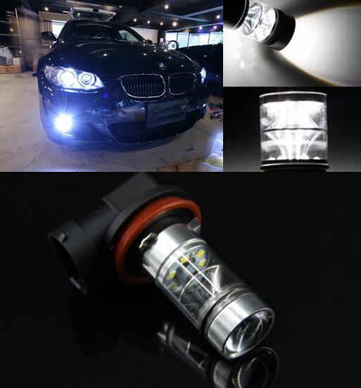 2x canbus h11 h8 sharp chips de led luzes de nevoeiro lâmpada para bmw 3/5-série 328i 335i E92 E93 E60 E61 E39 525 530 535 540 E46 F10 X3 F2
