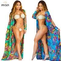 Women Latest Beach Outwear Sexy Ladies Chiffon Jacket Cape Cardigan Beach Casual Blouse Open Stitch Long