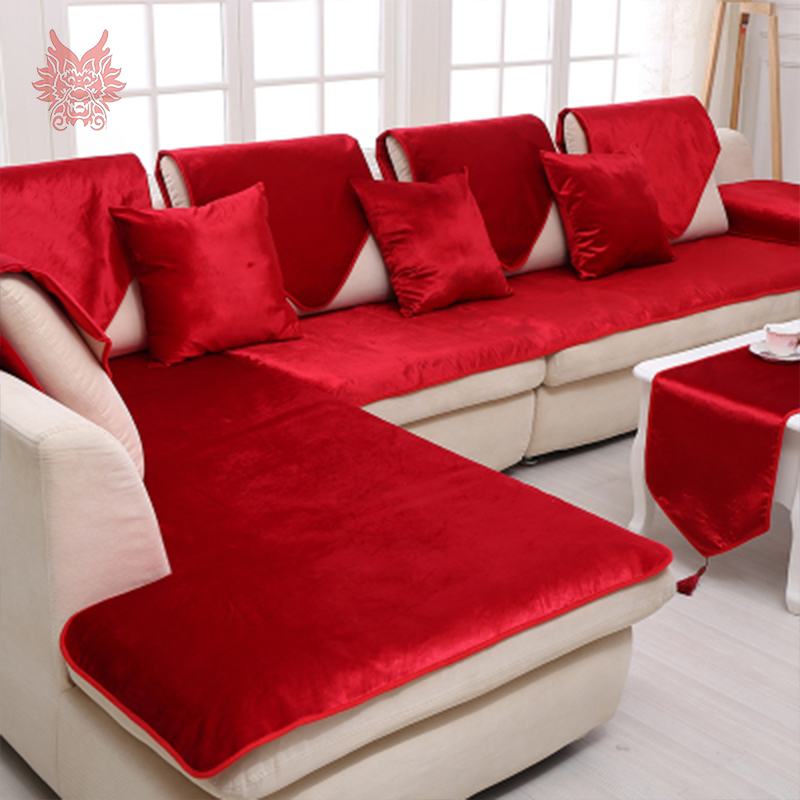 US $14.17 52% OFF|Free shipping grey camel red black velvet sofa cover  flannel plush slipcovers cheap sectional couch covers fundas de sofa  SP2519-in ...
