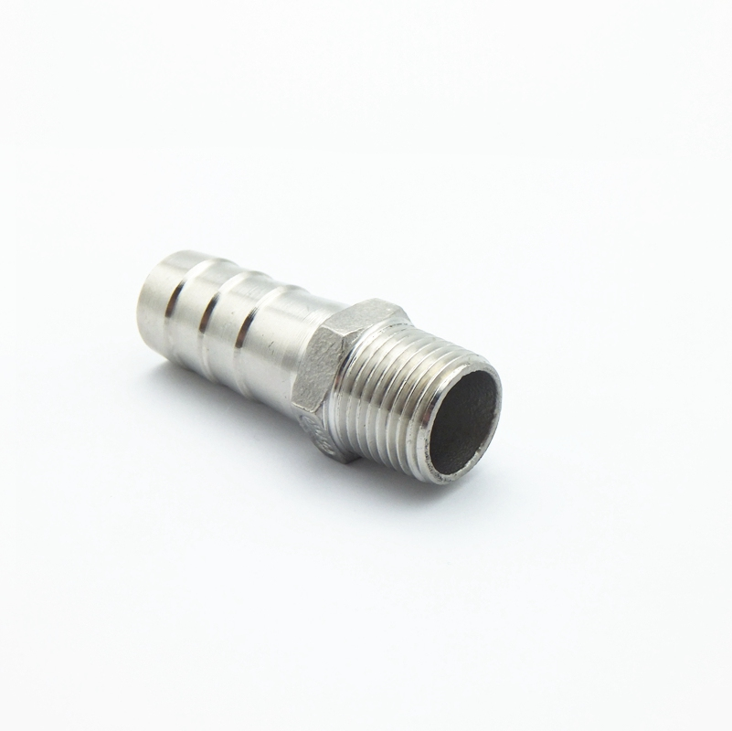 """1//2/"""" Male Thread Pipe Fitting x 20MM OD Barb Hose Tail Connector SS304 BSPT Hot"""