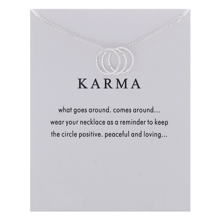 Fashion Jewelry Karma Gold-color Three Circle Pendant Necklace For Women Girl Gift 3