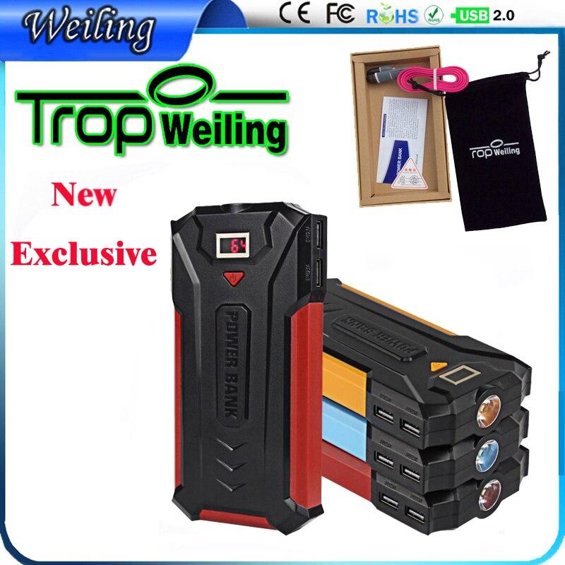 Tropweiling 18650 Power Bank 18000mAh Smart Identification Dual USB Port PowerBank Universal For iPhone Samsung Xiao mi Mi Pad