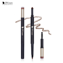 DUcare Eyebrow Pencil 3-IN-1 Brow Powder Brush Brown Long Lasting Waterproof Paint Natural Tint Cosmetics Easy to Wear
