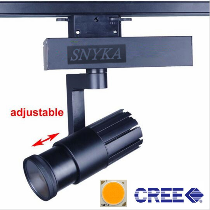 30w Led Track Lighting Fixtures: CREE COB LED Track Light 15W 20W 30W ZOOM Rail Ceiling