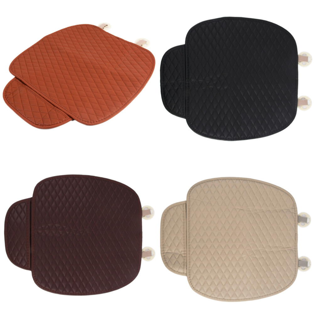 2018 New Rhombus black/coffee/beige/orange Car Front Seat Cushion Universal Pad Comfort Soft Free Tied Seat Covers Hot Selling