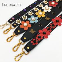 IKE MARTI Shoulder Belt Bag Strap Leather Handle Parts Accessories Replacement Women Top Wide Handbag Handles for Bags