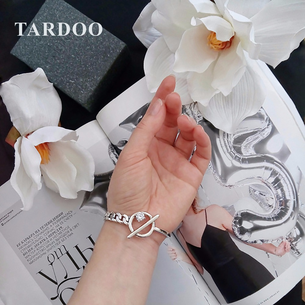 Tardoo Antique 925 Sterling Silver Cuff Bracelets&Bangles for Women New Punk Style Hologram Bracelets Brand Fine Jewelry punk style floral hollow out cuff ring for women