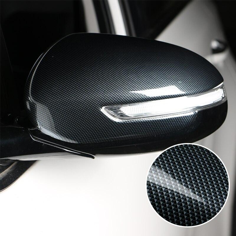 Carbon Fiber Car Styling Rear View Mirror Protective Cover Decoration Sticker For KIA Sportage KX5 2016 2017 Auto Accessories