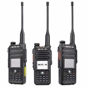 Image 3 - Walkie Talkie Digital DMR Retevis RT82 de doble banda, GPS, 5W, VHF, UHF, DMR, IP67, Ham, transmisor de Radio Amateur resistente al agua + Cable