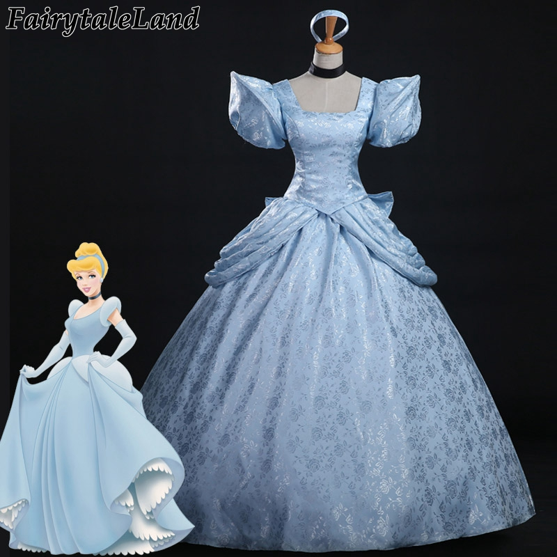 princess Cinderella dress hot sale customized Cinderella cosplay costume adult Women Halloween Cinderella costumes cosplay цена