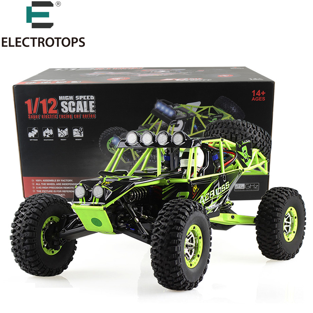 E T RC Car 12428 2.4G Radio Control 1/12 4WD Crawler RC Car Electric 50km/h High Speed drive Climbing RC Toy With LED Light RTR