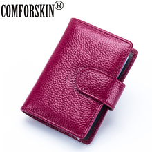 2017 Fashion Litchi Pattern Large Capacity RFID Credit Card Holders Multi-functional Genuine Leather Wallet