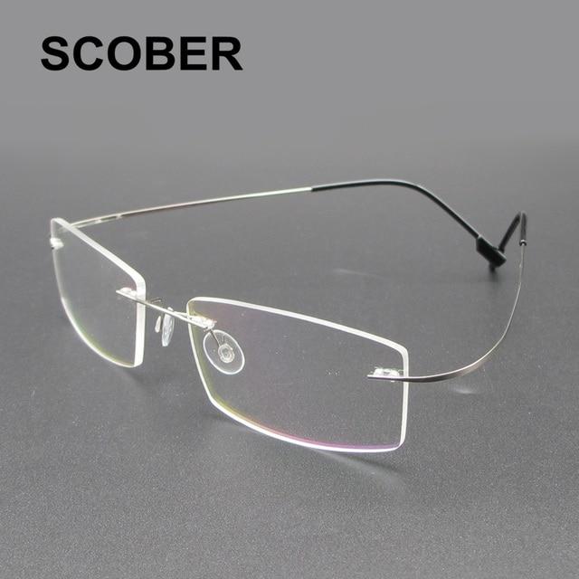 Sumondy Rimless Alloy Glasses Frame Men Women High Quality Square