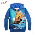 New 2016 moana Boys Hoodie for Girls blue Cartoon Jacket moana Sweatshirt For Girls Spring Autumn Coat top kid Children Clothing