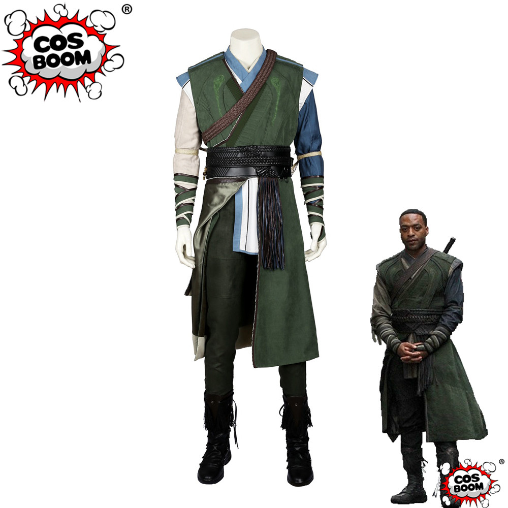 COSBOOM Doctor Strange Baron Mordo Cosplay Costume Adult Men's Superhero Halloween Doctor Strange Karl Mordo Cosplay Costume