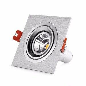 Image 5 - 10 Uds cuadrado redondo negro/plata aluminio LED accesorios ajuste halógeno focos GU10 MR16 marco empotrado Led Accesorios