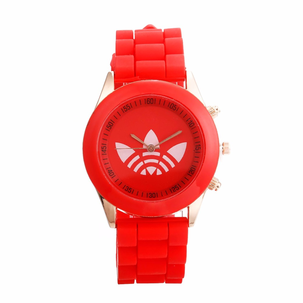 New quartz wrist watch montres femmes Fashion Leaf grass sports Brand watch relogio feminino men women jelly silicone watch