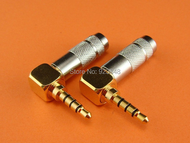 3.5mm gold-plated plug bend 6.0mm end mouth