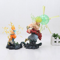 16cm / 26cm Super Big Anime Dragon Ball Super Saiyan Broly the burning bettles Broli goku PVC Action Figure Model Toy