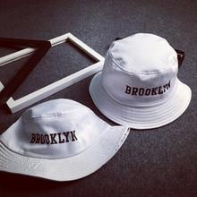 VORON 2017 New Fashion BROOKLIN Bucket Hat White Panama Fishing Cap Men and Women Bob  Fisherman Hat