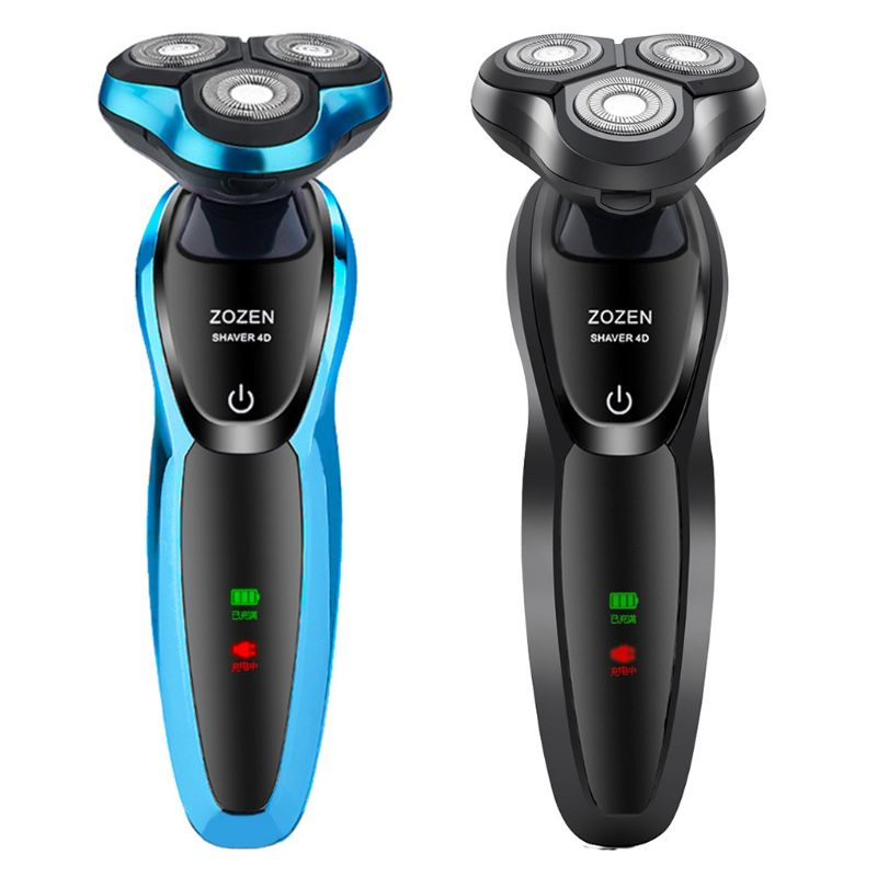 4D Rotary Wet Dry Electric Shaver Multi-function Men USB Car Charging Body Wash Razor Nose Hair Trimming Beard Knife Home Travel