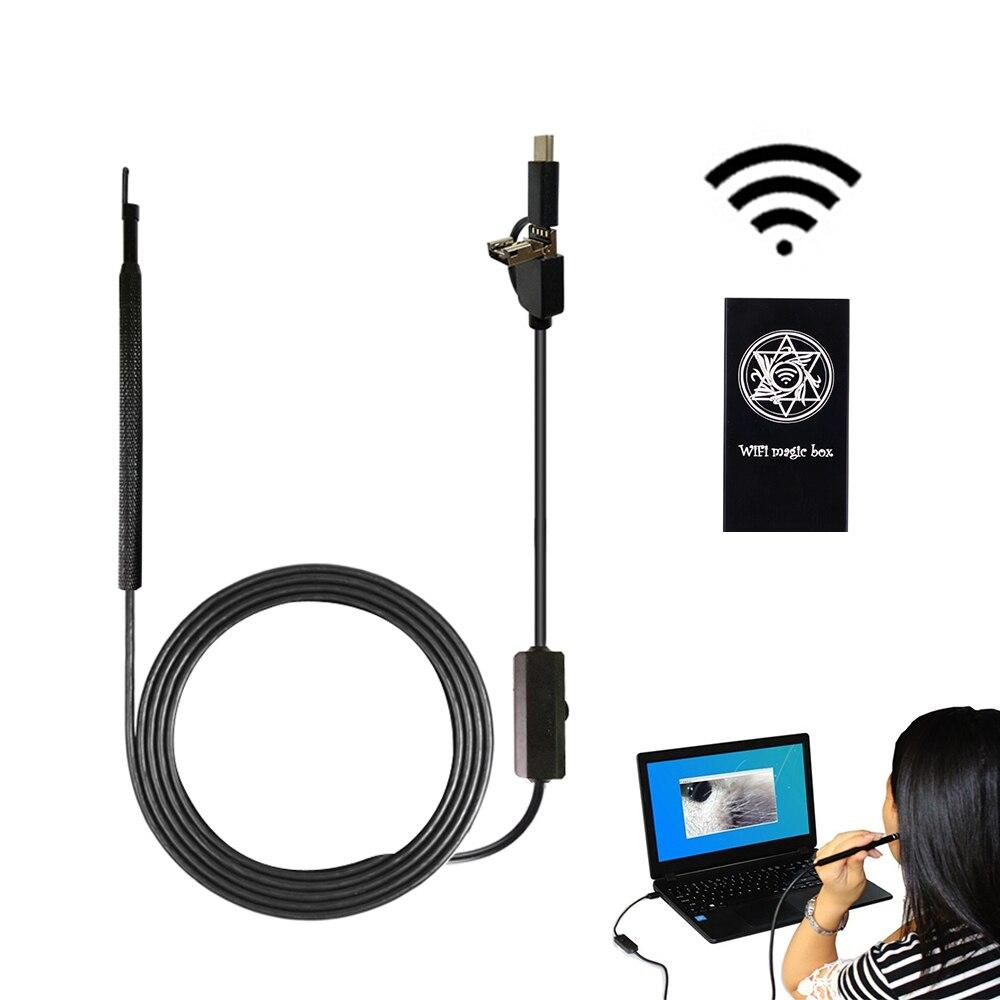 3 En 1 Wifi Usb Endoscopio Otoscopio Cámara Para Teléfono Android Pc, Limpiador De Oreja Visual Inalámbrico A Prueba De Agua Tecnicas Modernas