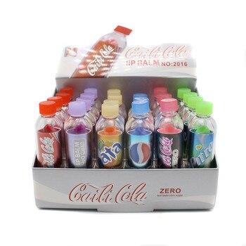 24pcs/lot beauty Change Color Cola Lipstick sweet cute Moisturizer Faint scent Lip Balm Lipstick Brand Makeup Lip Smacker